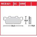 TRW Bremsbeläge Organic Scooter -125 MCB821EC