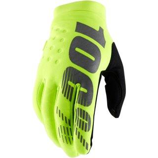 100% Brisker Handschuhe Neongelb